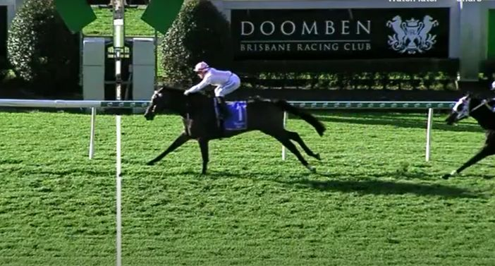 Fiery Heights brings up win number 10 at Doomben.