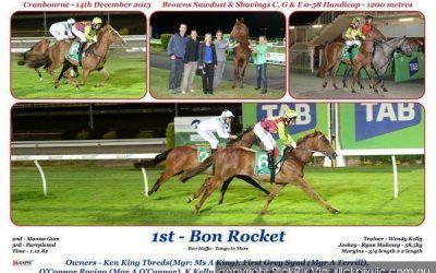Bon Rocket rockets to the line